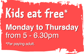 kids eat free monday - thursday